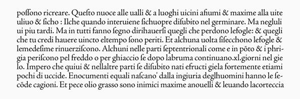 Adobe Jenson活字による『プリニウス博物誌(複写)』の再現