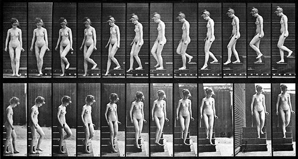 エドワード・マイブリッジ『運動する人体』(1887)