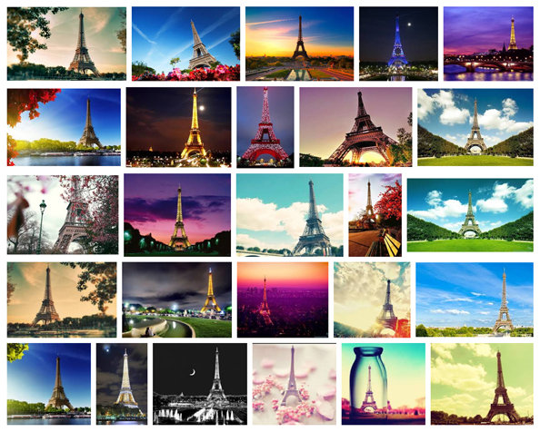 Photos of Beautiful Eiffel Tower