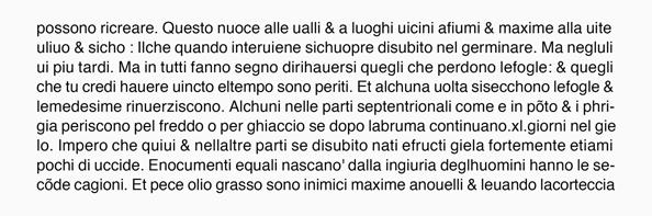 Helvetica活字による『プリニウス博物誌(複写)』の再現