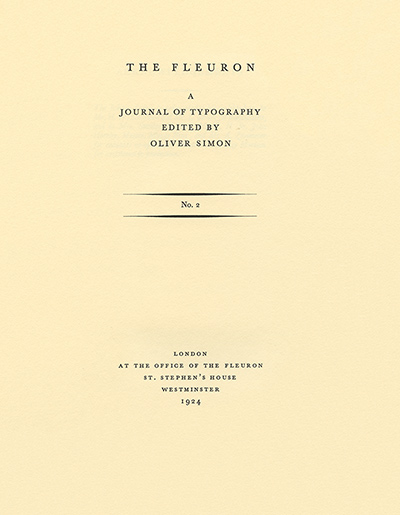 The fleuron