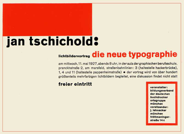 """Jan Tschichold """"Die neue Typographie"""", 1928"""